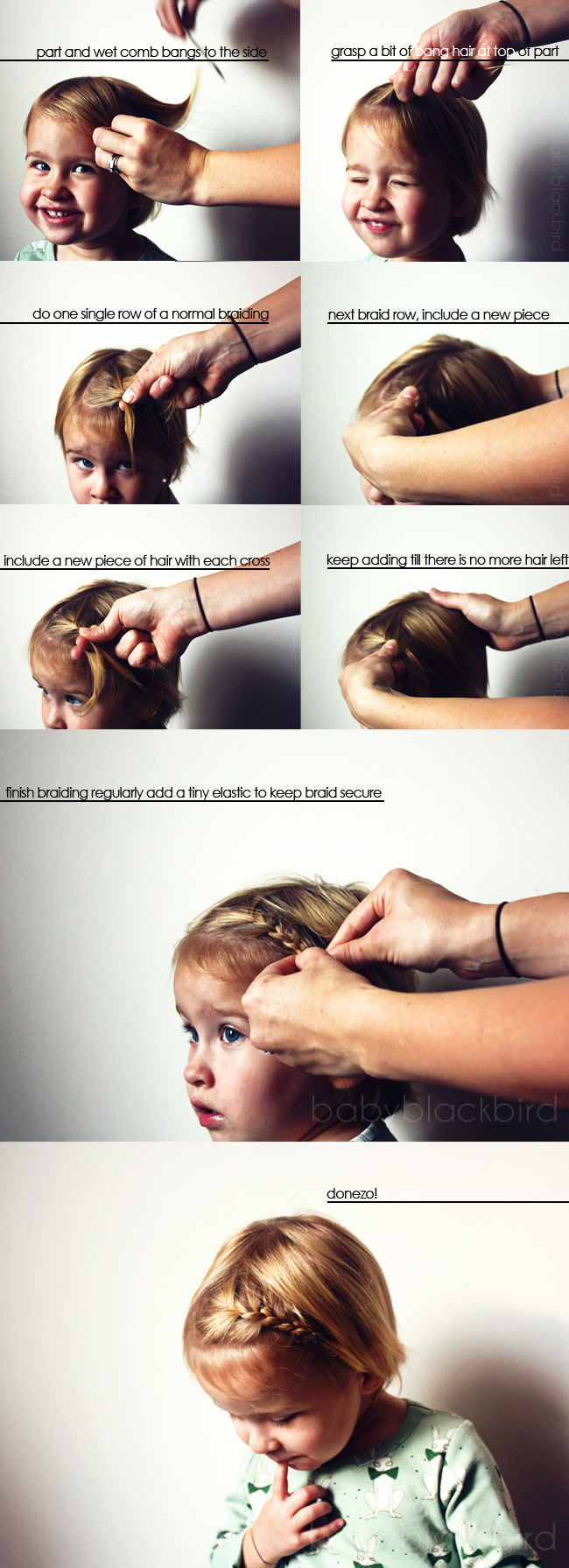 Bang braid how to for toddlers