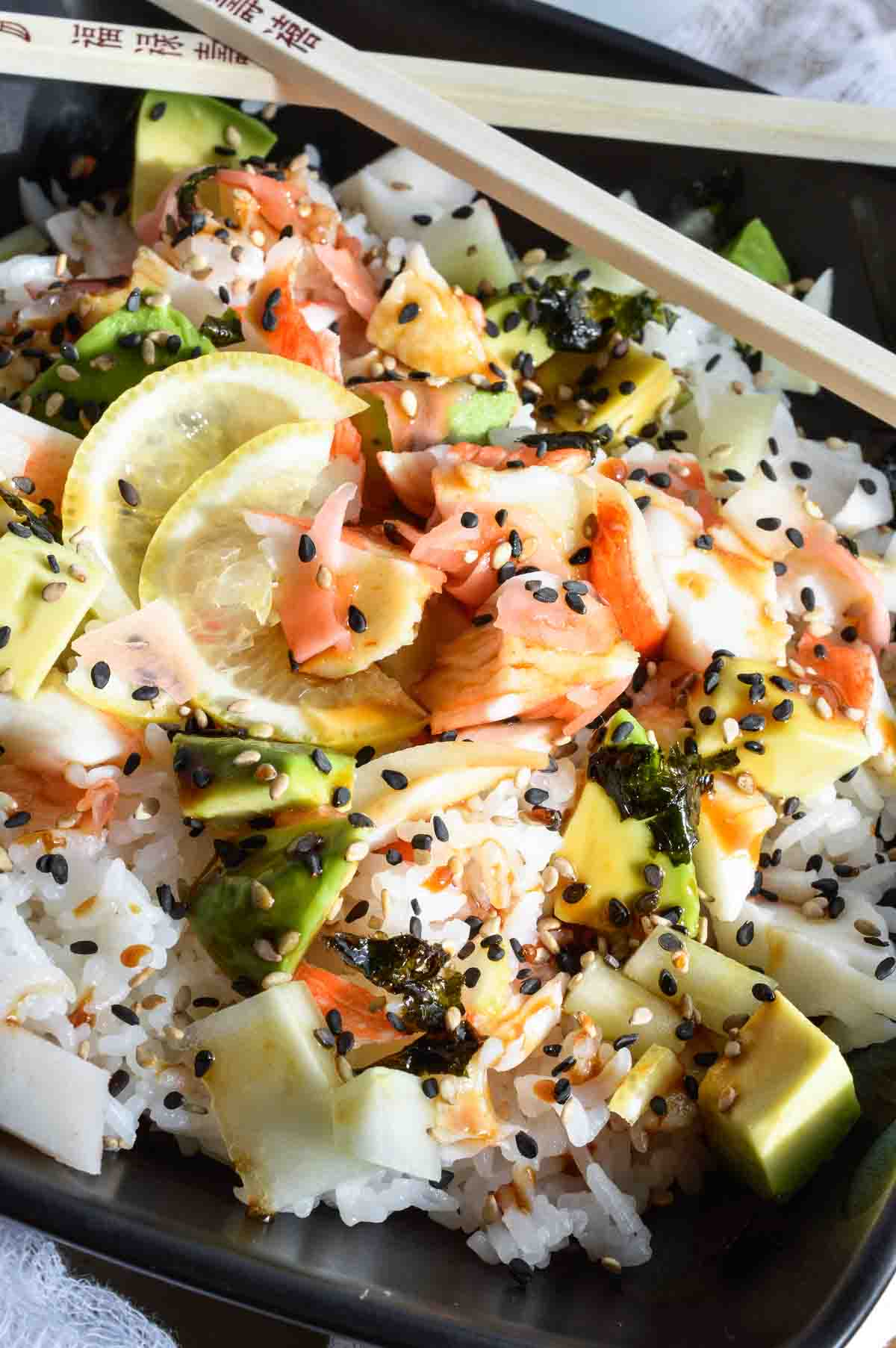 California roll sushi bowl