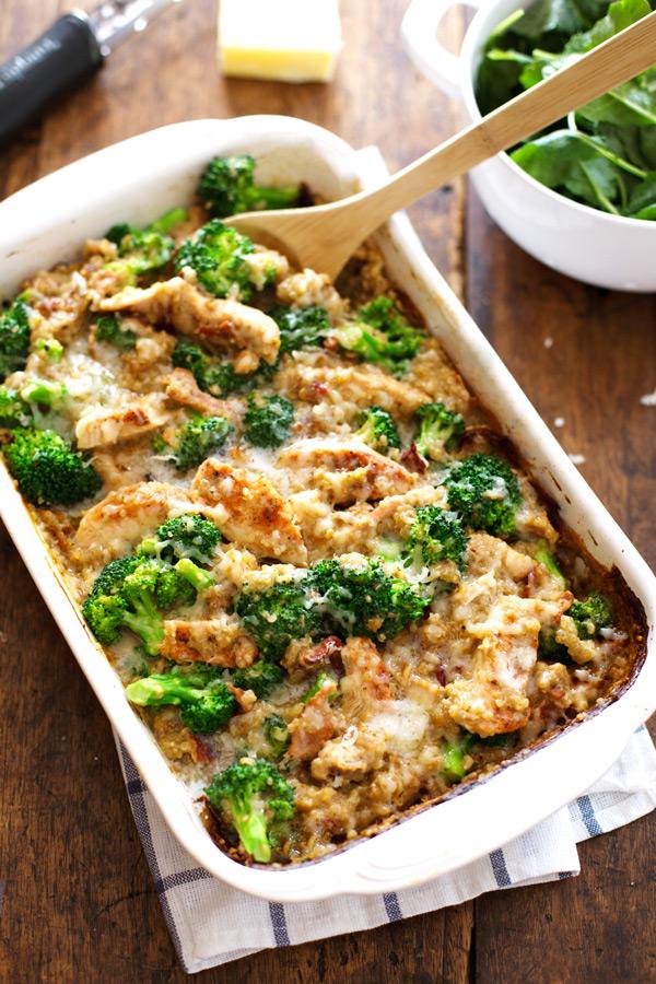 Chicken and quinoa broccoli casserole