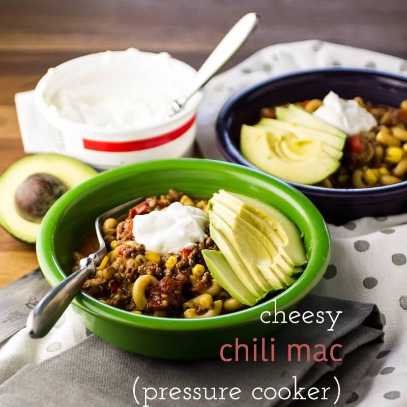 Chili mac pressure cooker recipe