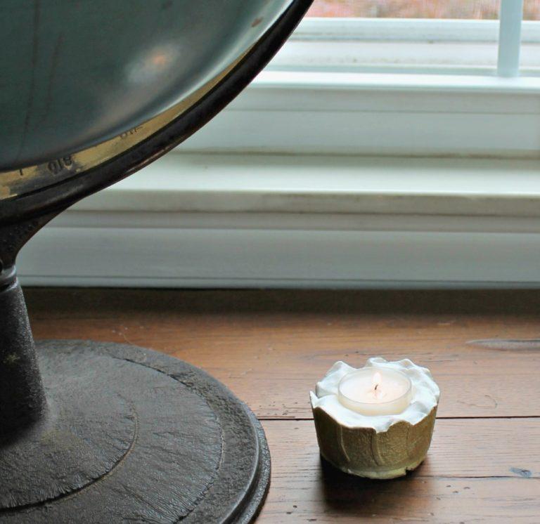 Concrete candle holder homedit