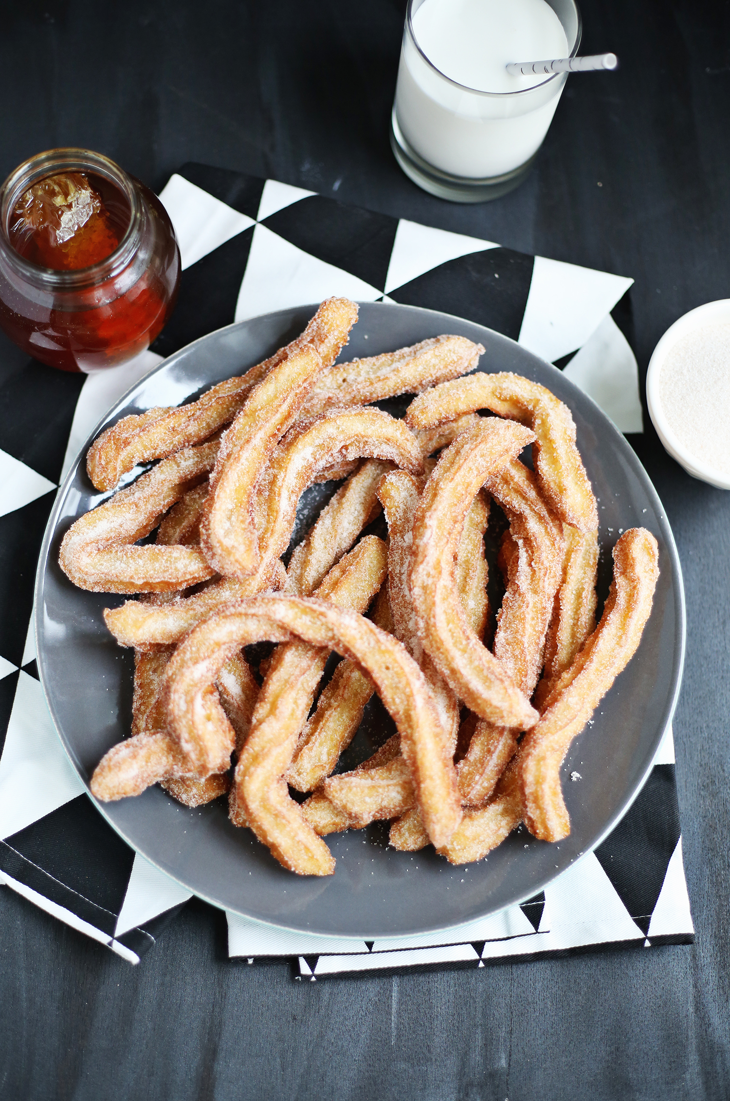 Cornmeal churros recipe