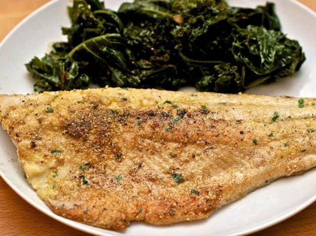 Cornmeal crusted trout
