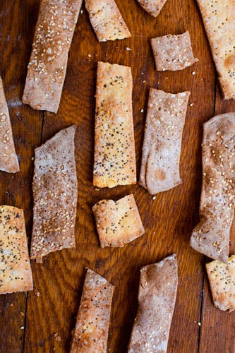 Cornmeal parm and poppyseed crackers