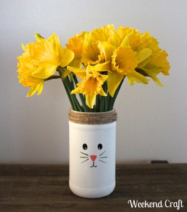 Diy easter bunny vase