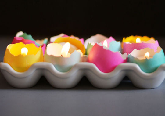 Diy eggshell tealights