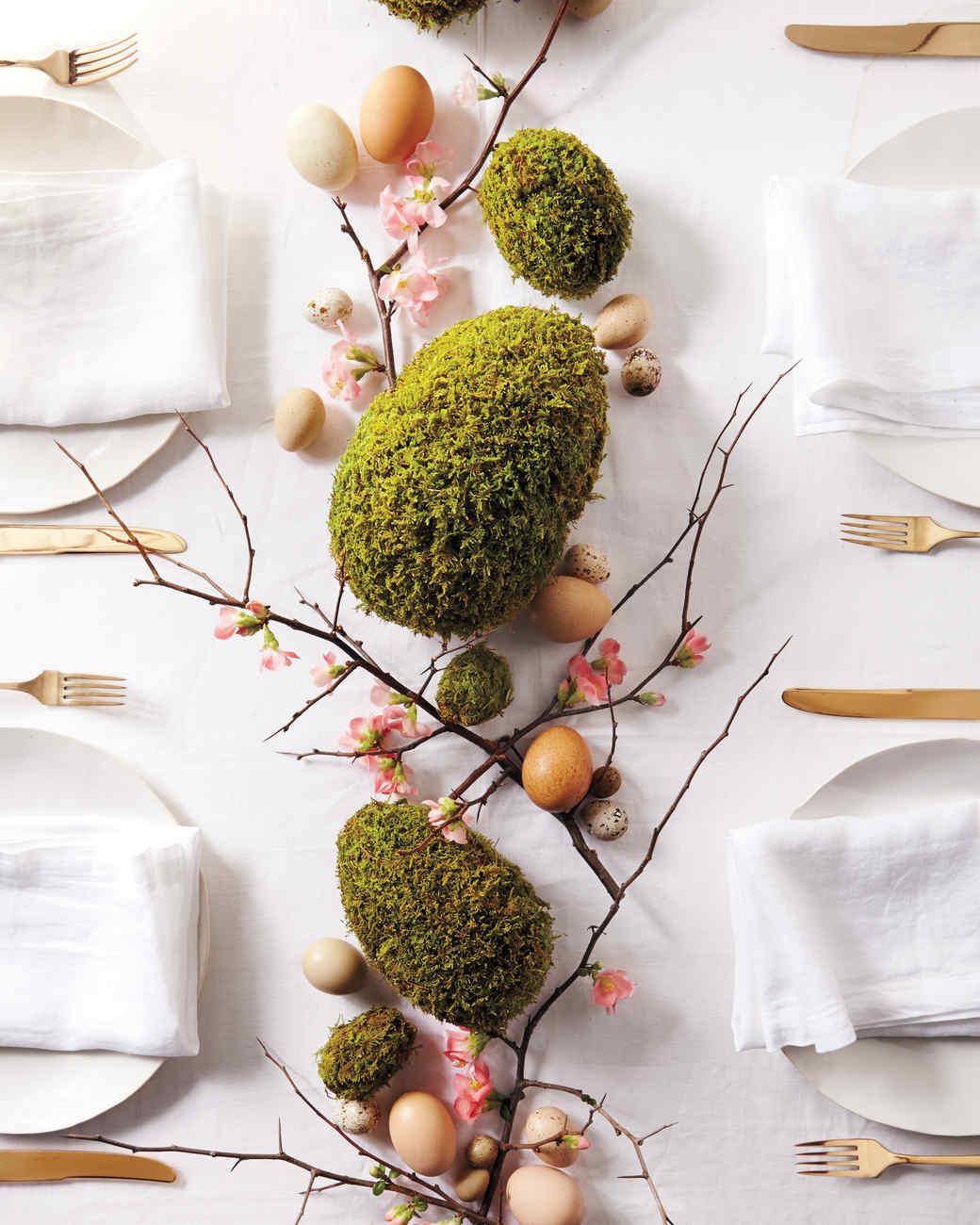 Diy moss egg centerpiece