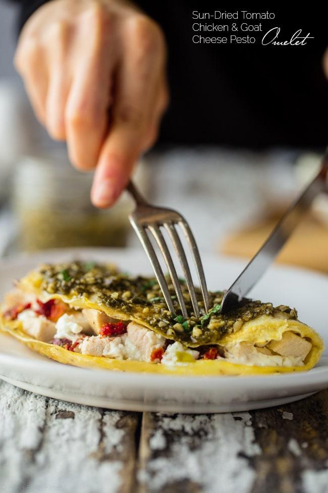 Egg white omelette image