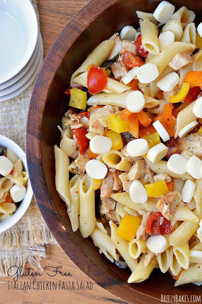 Gluten free chicken pasta salad