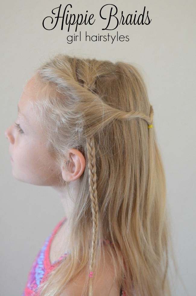 Hippie braids girl hairstyles