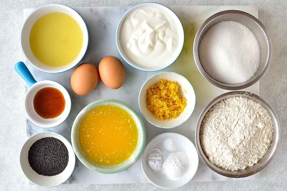 Lemon poppyseed muffins ingredients