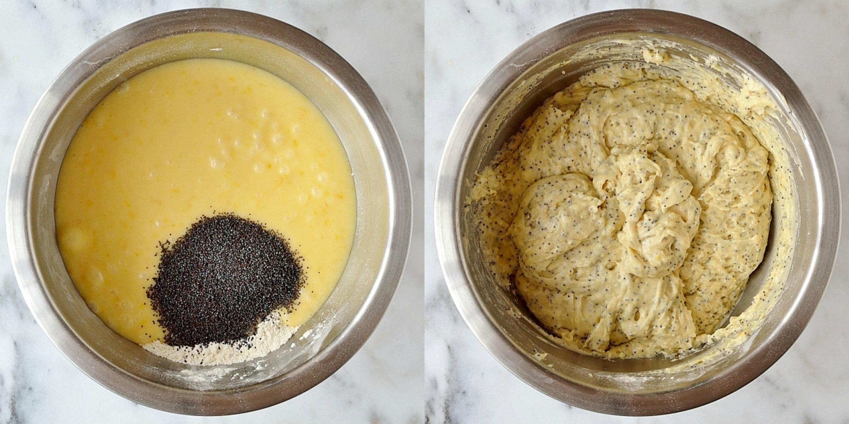 Lemon poppyseed muffins step 4