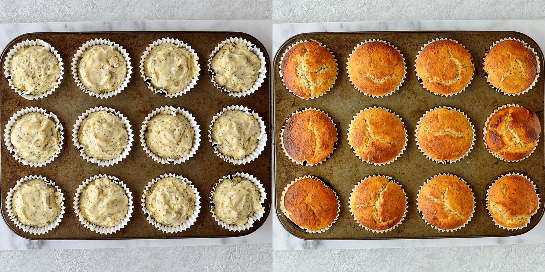 Lemon poppyseed muffins step 5