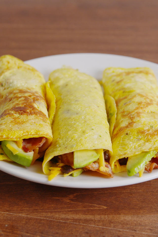Low carb breakfast burrito