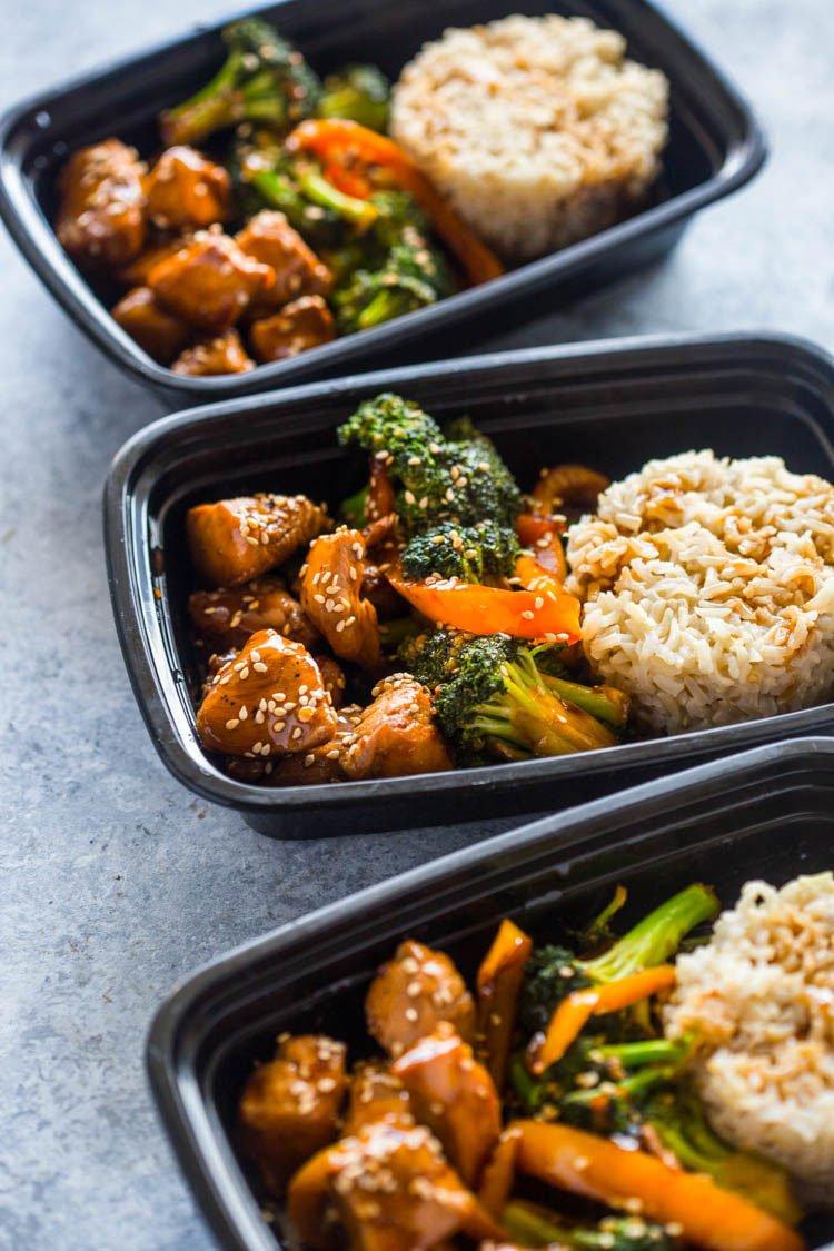 Meal prep terriyaki chicken broccoli