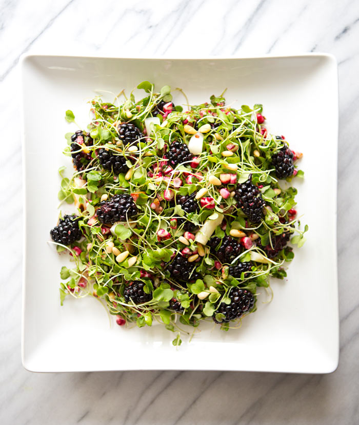 Micro greens blackberry salad a house in the hills 3