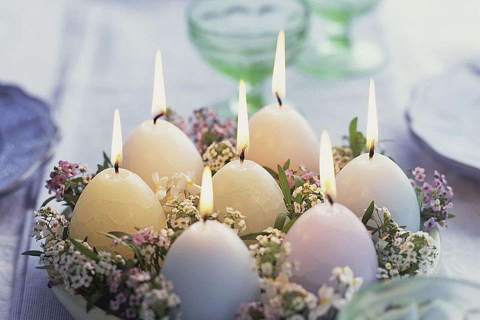 Natural egg centerpiece diy