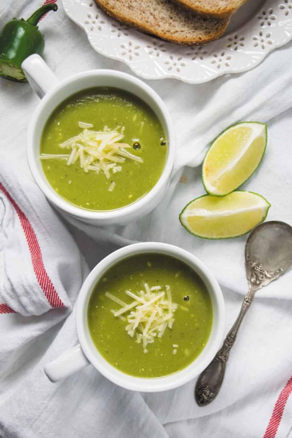 Pressure cooker zucchini basil soup