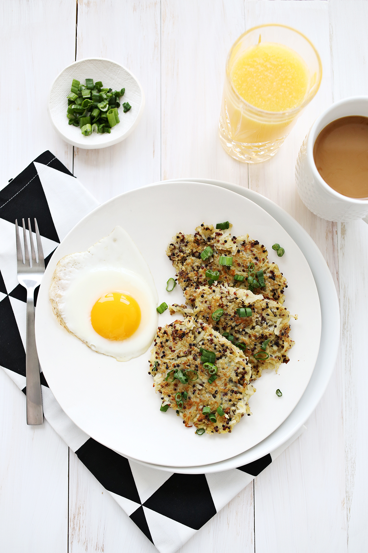 Quinoa breakfast hashbrowns