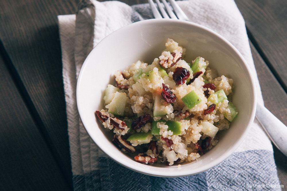 Quinoa salad pecans apples cranberries 6