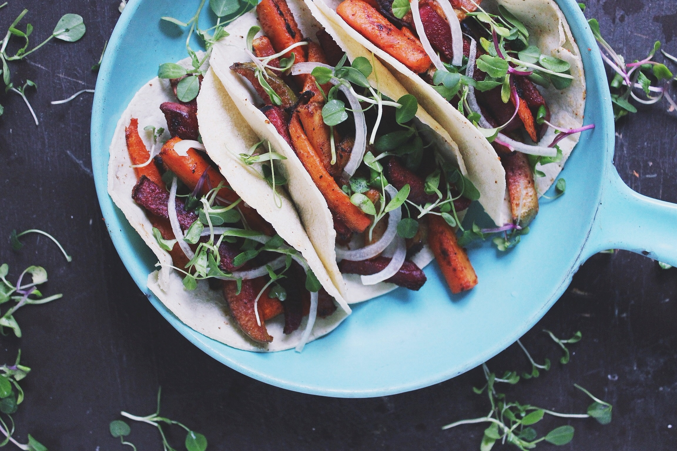 Roasted root veggie fajitas