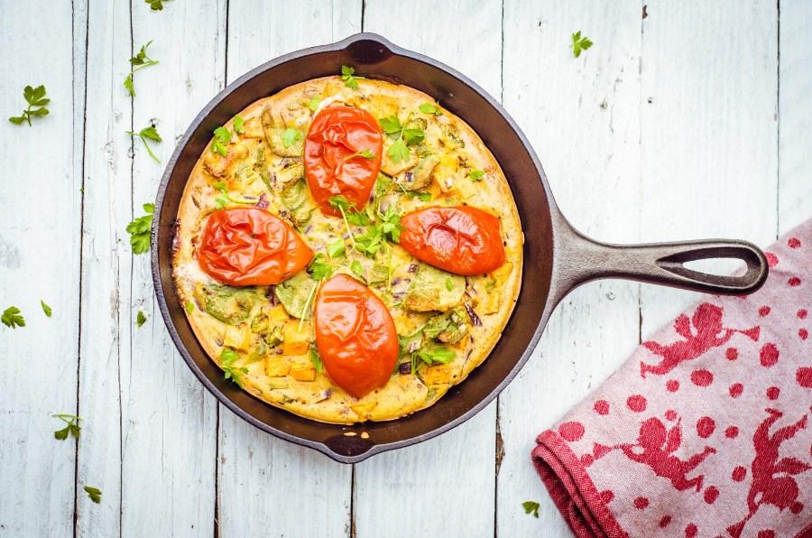 Spanish sweet potato omelette