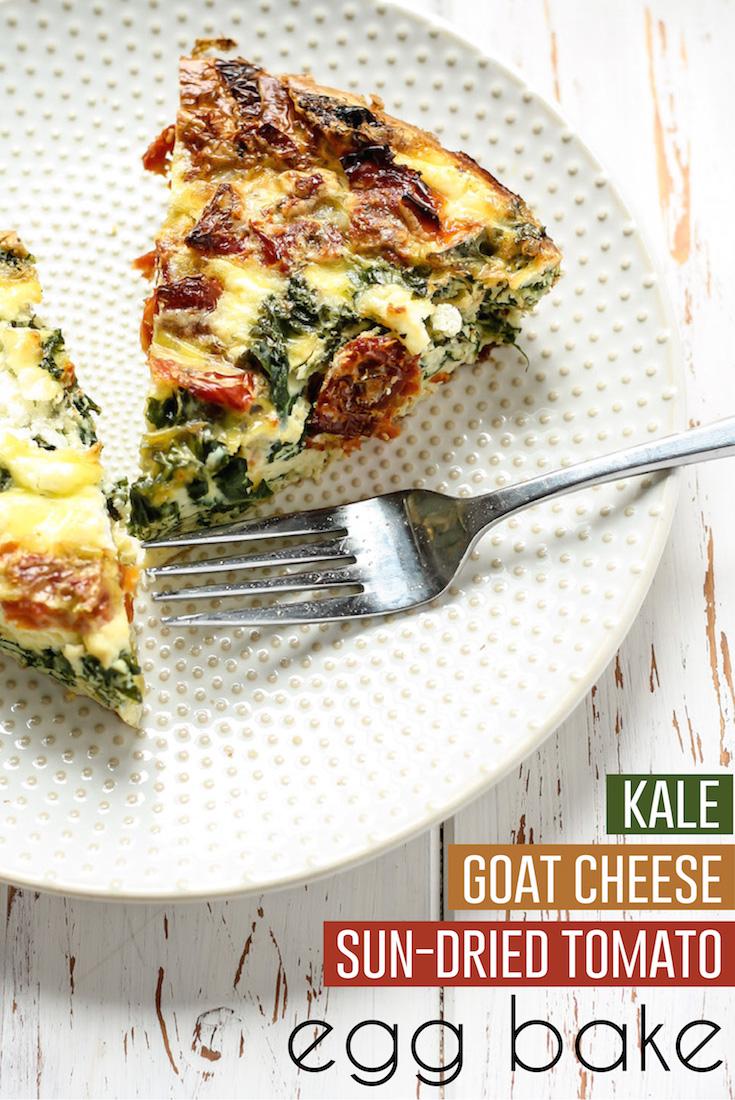 Sun dried kale goat cheese