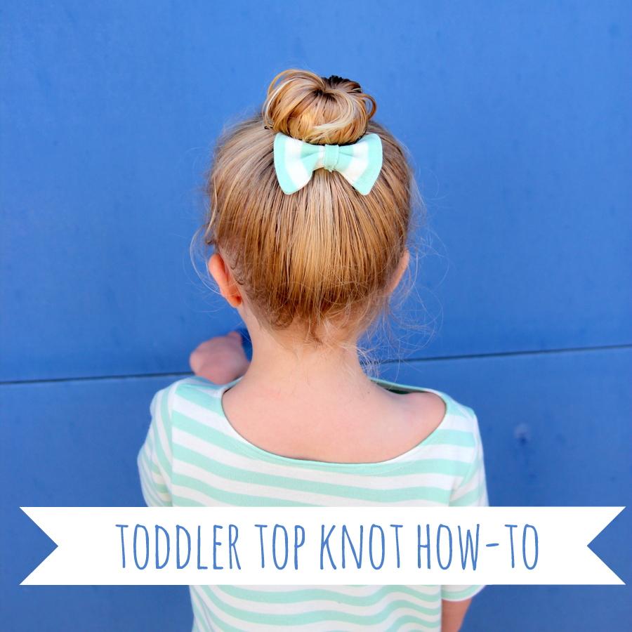 Toddler top knot diy
