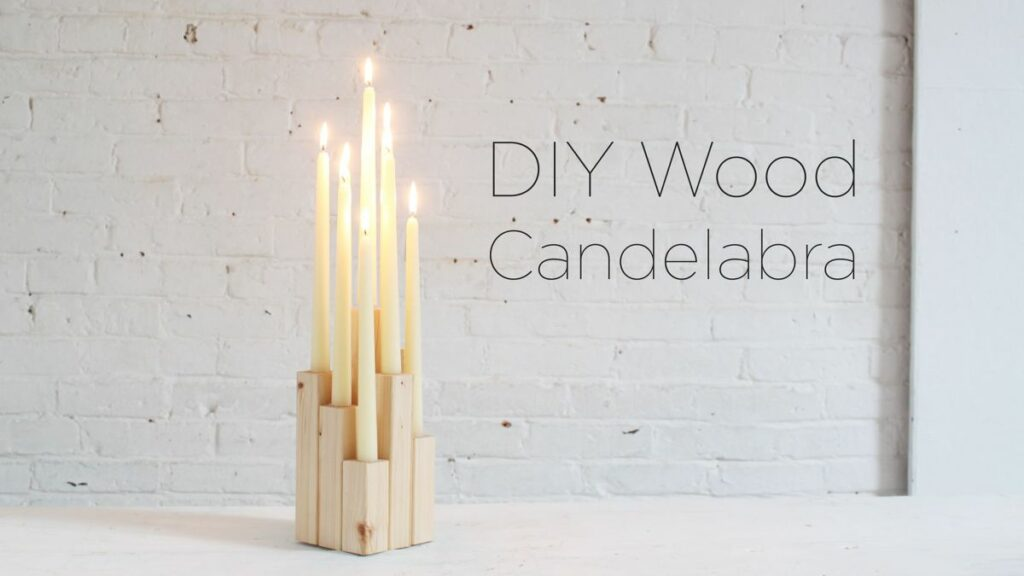 Wood candelabra