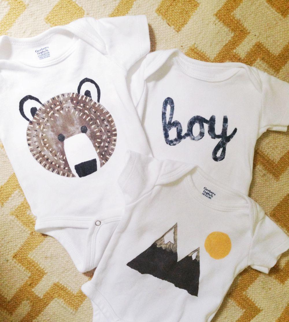 Baby clothes stencil