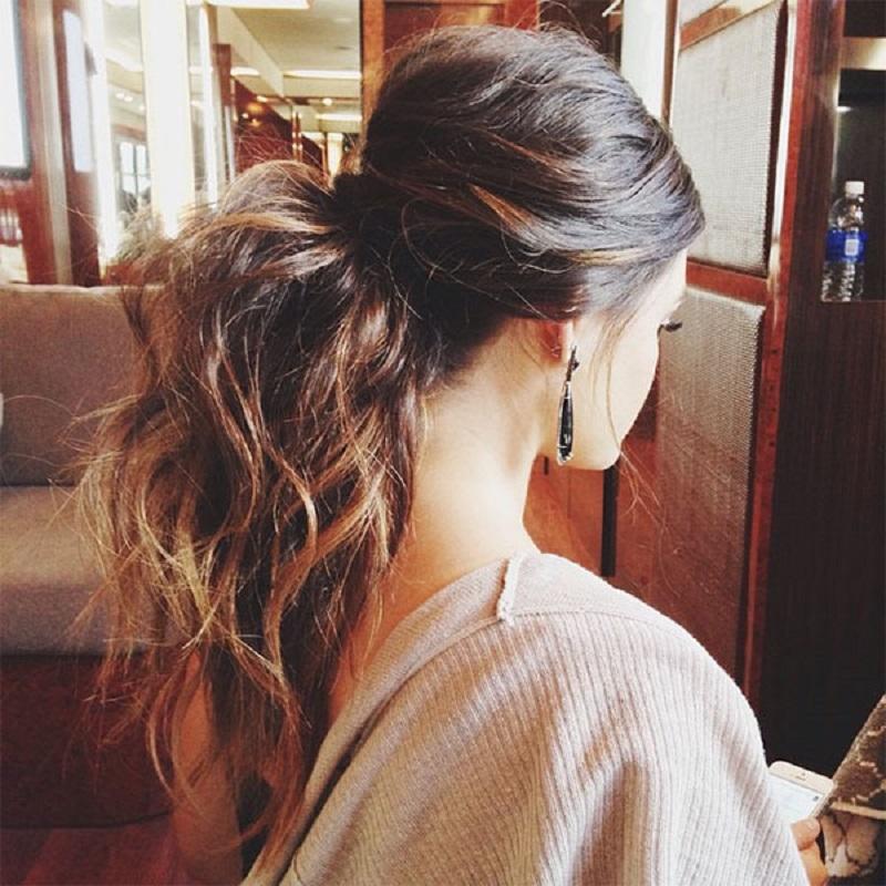 Big hair ponytail