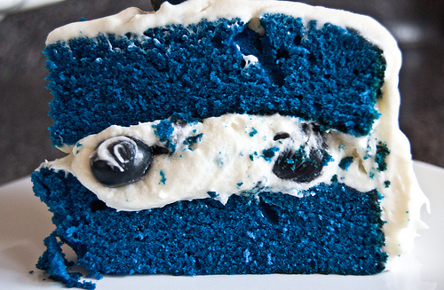 Blue velvet blueberry cake recipe