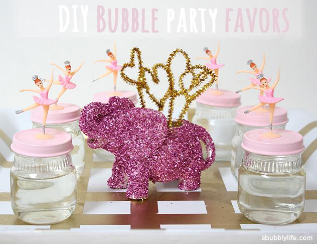 Bubble diy favors