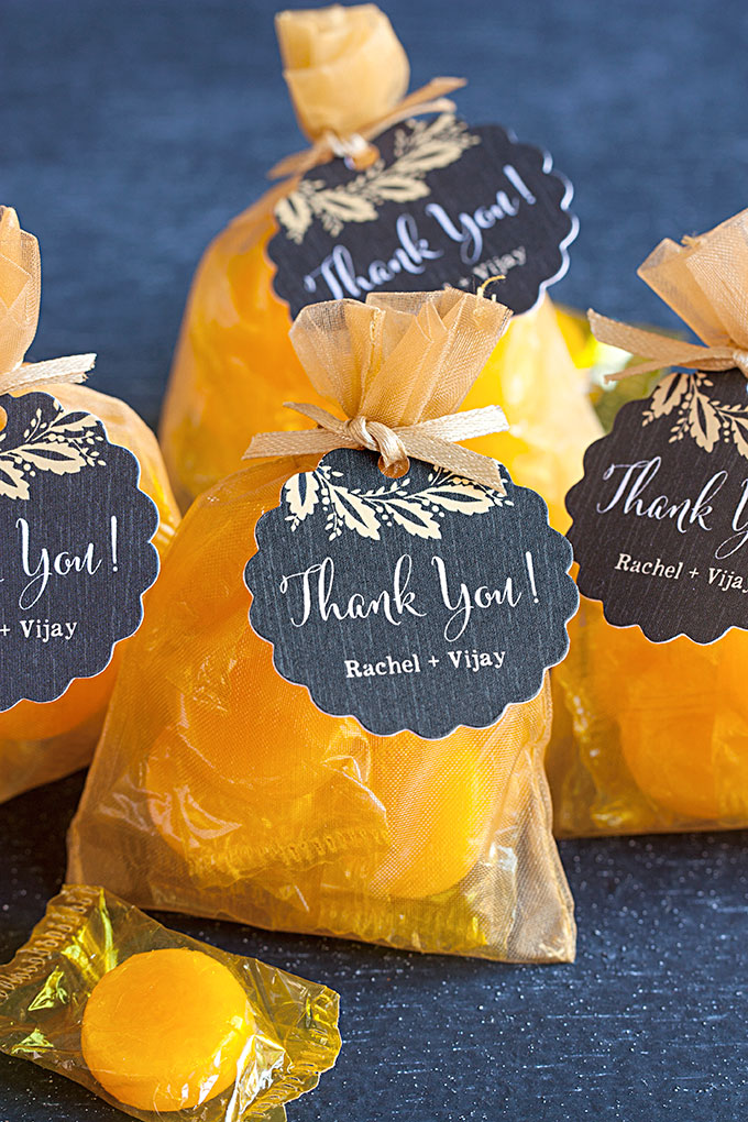 Butterscotch candy favors diy