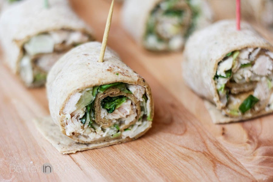 Chicken caesar salad pinwheels