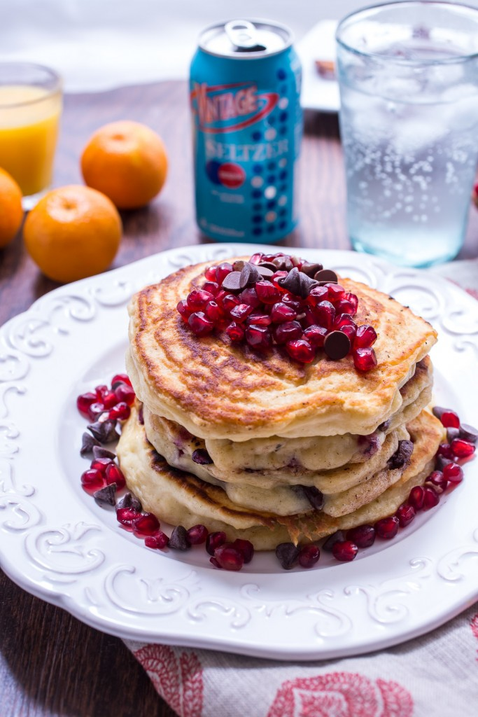 Chocolate chip pomegranate pancakes 3 683x1024