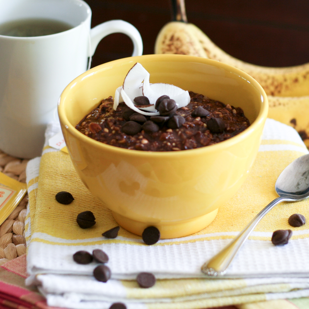 Chocolate and banana overnight oats 1