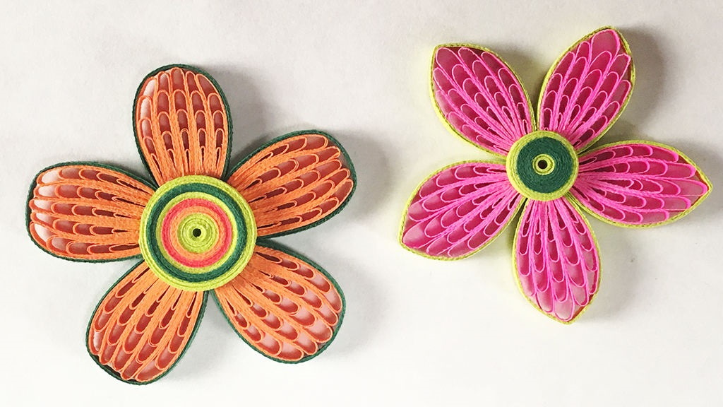 Chunky quilled flowers