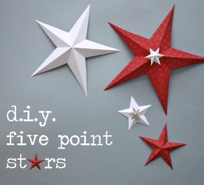 Diy 3d five point stars
