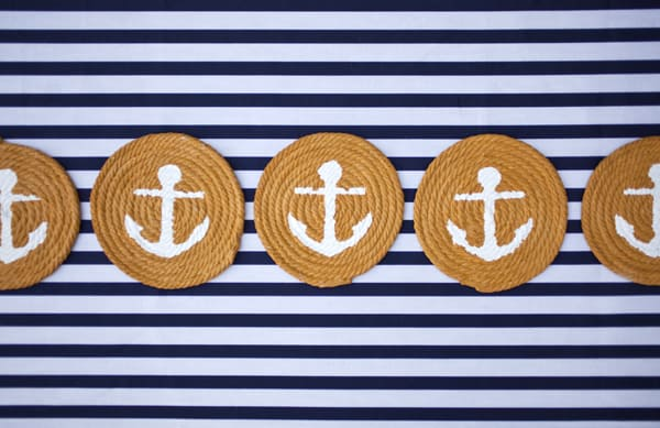 Diy anchor coasters