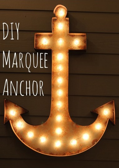 Diy anchor marquee