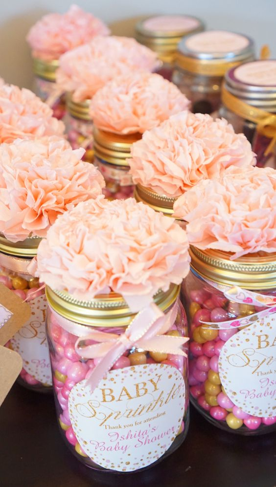 Diy Baby Shower Favors With Mason Jars
