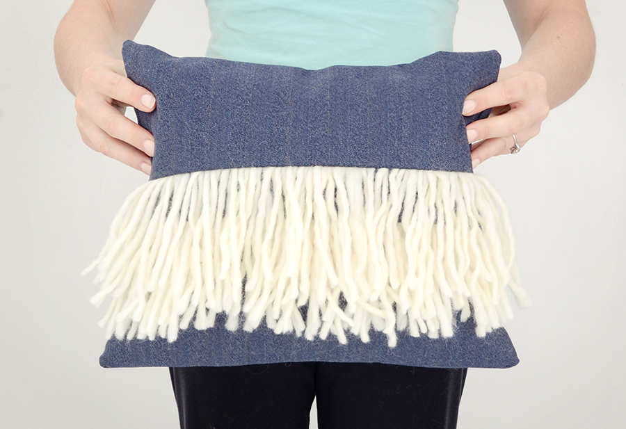 Diy boho fringe pillow cover 12