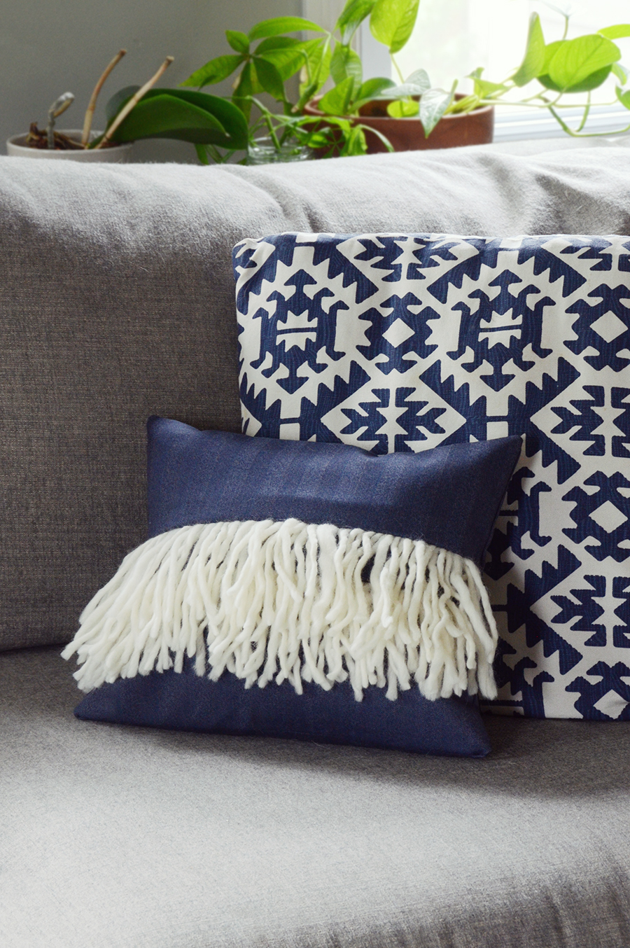 Diy boho fringe pillow cover 14