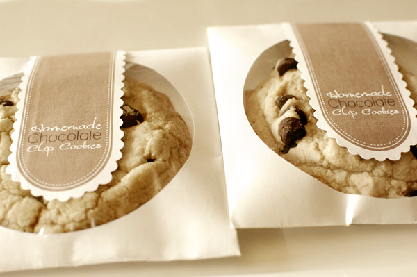 Diy chocolate chip cookie favors