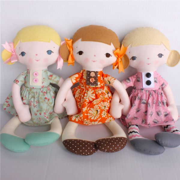 Diy dolls in dresses
