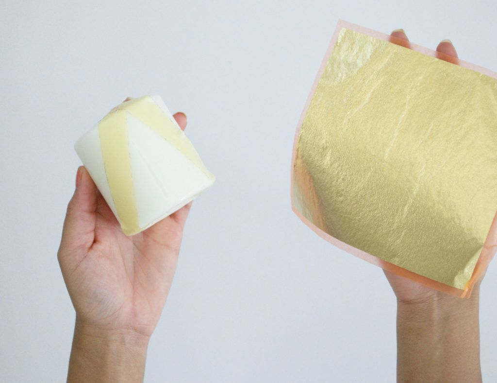 Diy gilded candles adhesive