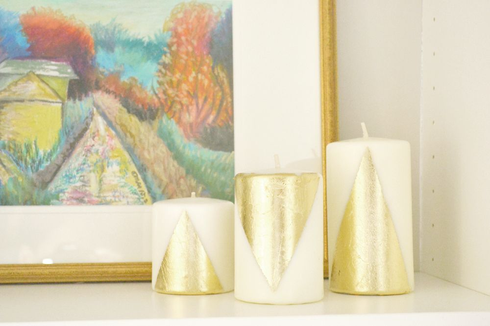 Diy gilded candles