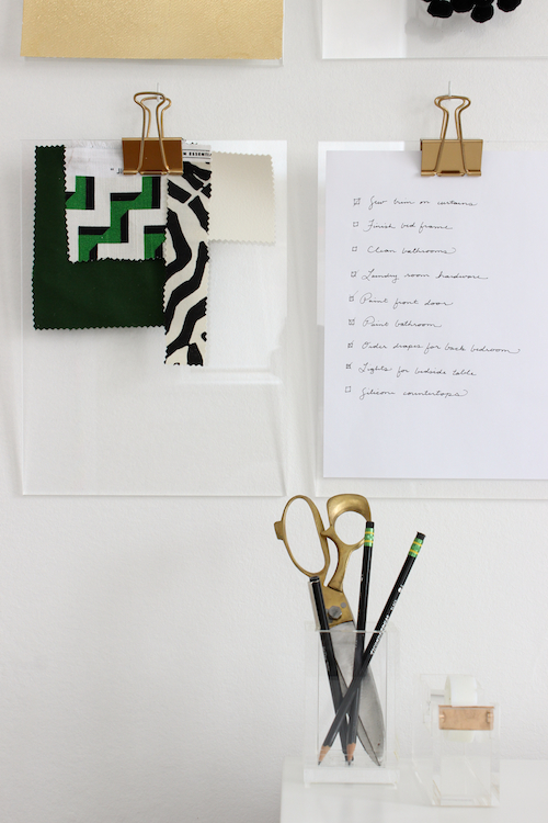 Diy gold + acrylic clipboards