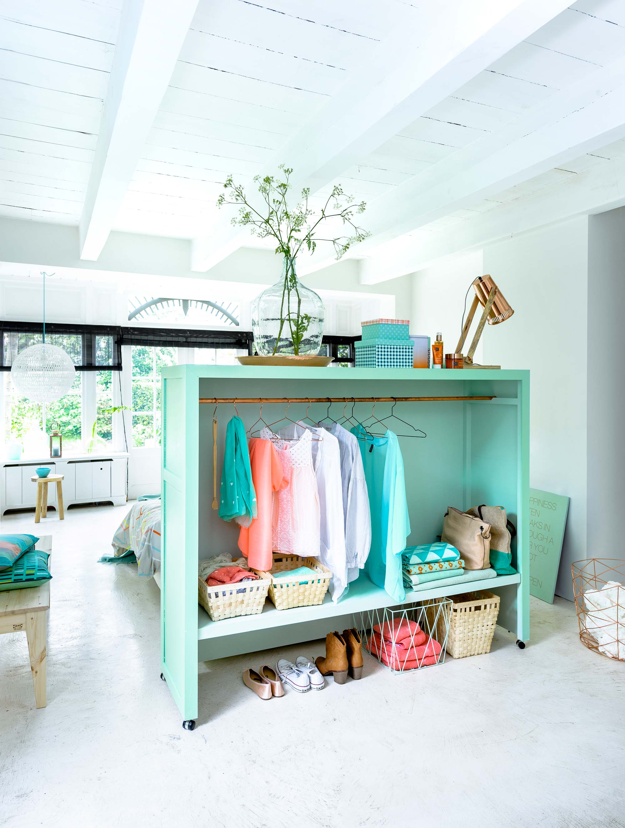 Diy headboard closet